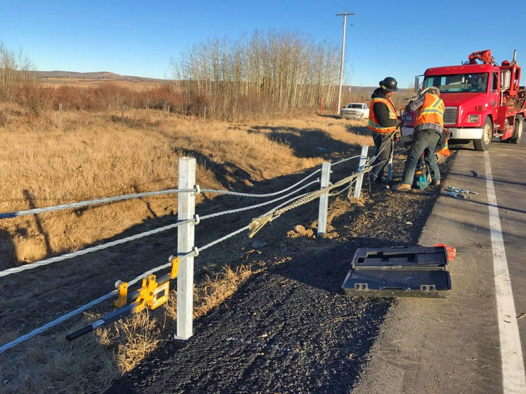 High Tension Cable Barrier Construction